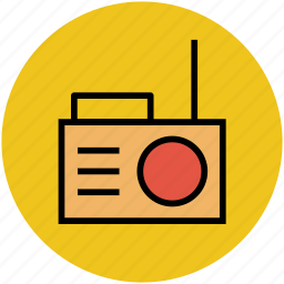 old radio, radio, radio set, radio with antenna, vintage radio icon