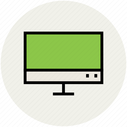 computer display, lcd, monitor, output device, projection screen icon