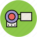 cam, camcorder, camera, film camera, movie camera, video camera icon