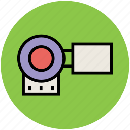 cam, camcorder, camera, film camera, movie camera, video camera icon