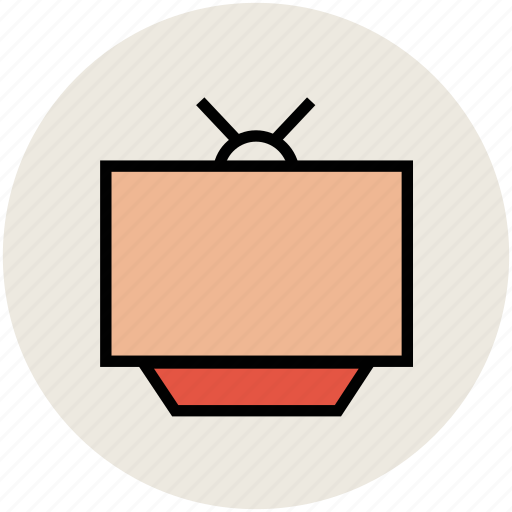 old tv, retro tv, television, television set, tv icon