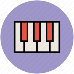 keyboard instrument, musical instrument, piano, piano keyboard, pianoforte icon