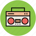audiotape player, cassette player, cassette recorder, tape recorder icon