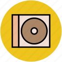cd, cd case, compact disk, dvd, optical disk icon