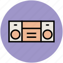 audiotape player, cassette player, cassette recorder, tape recorder icon