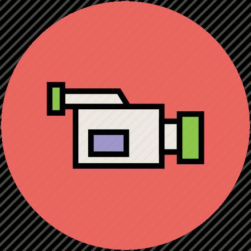 cam, camcorder, camera, movie camera, video camera icon