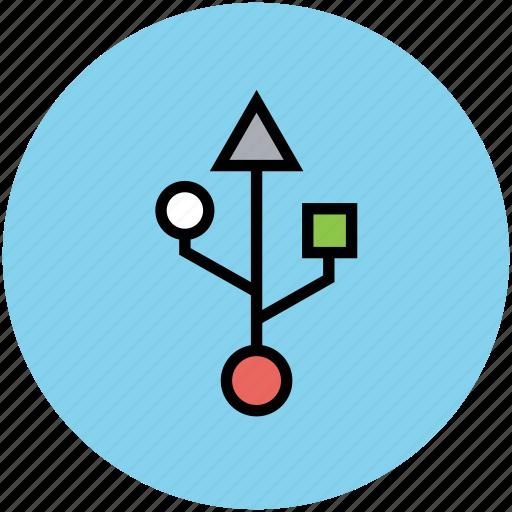 pendrive, usb, usb connection, usb port, usb sign, usb symbol icon