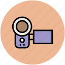 cam, camcorder, camera, movie camera, video camera icon