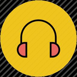 earphone, earset, headphone, headset, wireless headset icon