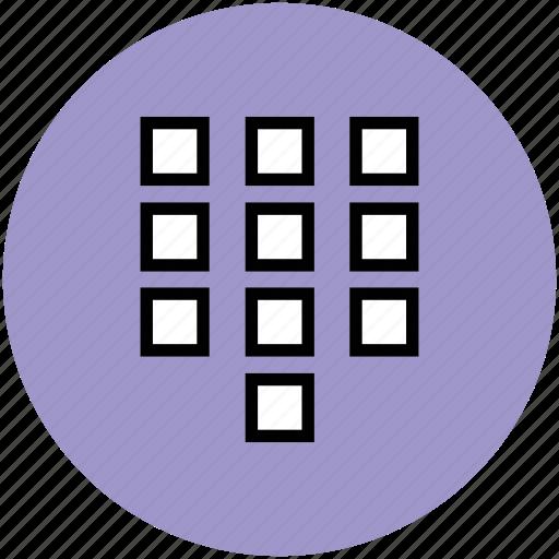 keypad, mobile button, mobile keypad, phone keypad icon