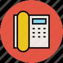 fax, fax machine, landline, phone, telephone icon