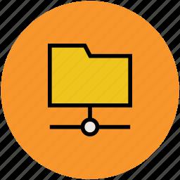 connected folder, file, file folder, folder, server holder icon