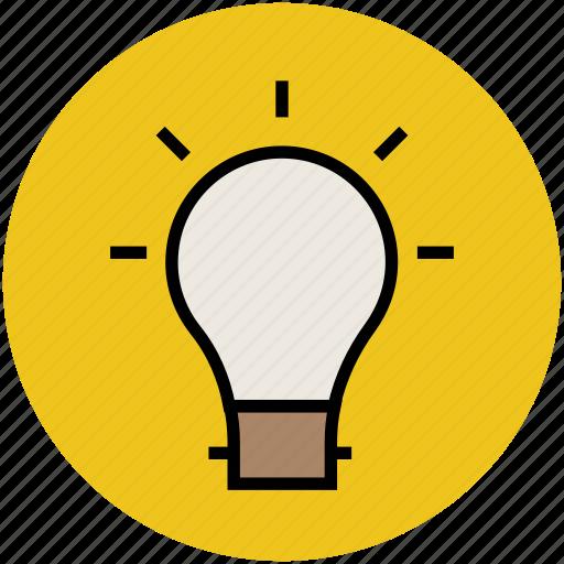 bulb, electric bulb, idea, light, light bulb icon