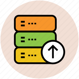 database, rack uploading, server uploading, uploading, web hosting icon