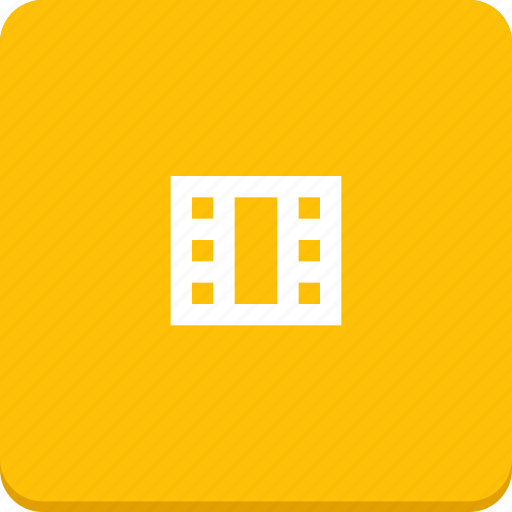 film, material design, media, movie, video icon