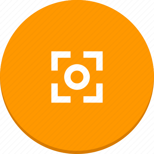 focus, frame, material design, photo, photography, picture icon