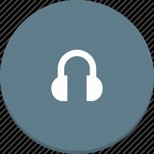 audio, headphones, material design, media, player, sound icon