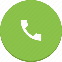 call, communication, material design, mobile, phone, telephone icon