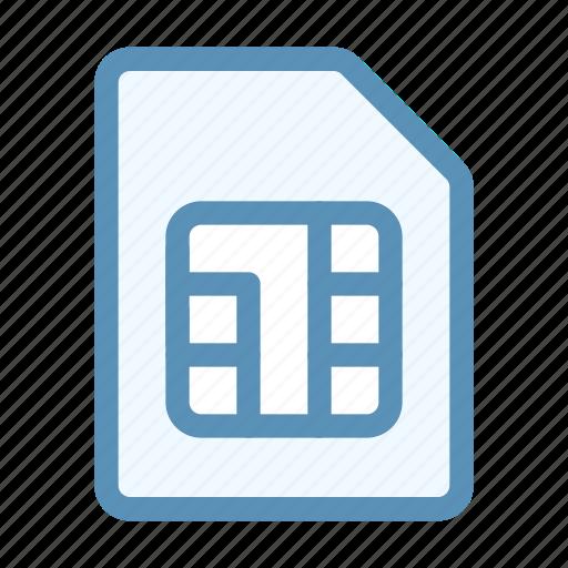 card, device, interface, sim, user icon