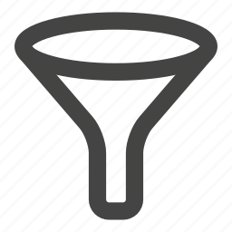 filter, filtering, filters, funnel, sale funnel, tunnel icon