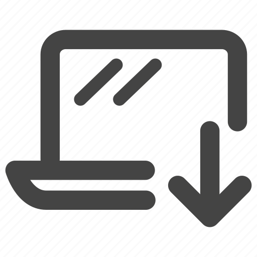 computer, device, download, laptop, macbook, notebook, pc icon