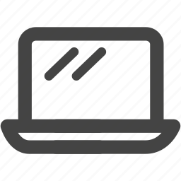 computer, device, devices, laptop, macbook, notebook, pc icon