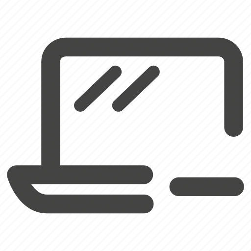 computer, device, laptop, notebook, remove icon