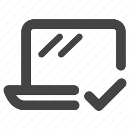 check, computer, device, devices, laptop, macbook, notebook icon