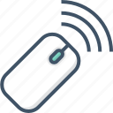 device, mouse, wireless icon