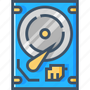 computer, data, device, harddisk, hardware, pc, storage icon