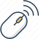 computer, connection, device, laptop, mouse, pc, wireless icon