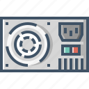 computer, device, electricity, energy, pc, power, supply icon