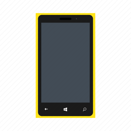 lumia, microsoft, microsoftlumia535, mobile, nokia, phone, yellowcolor icon