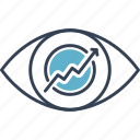 development, eye, progress icon