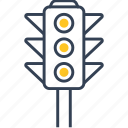 development, lights, traffic icon