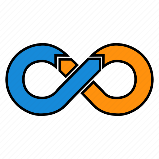 agile, cycle, devops, infinity, iteration, mobius icon