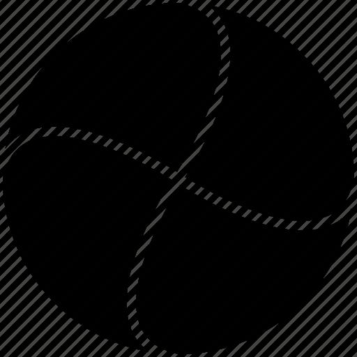 circle, divided icon