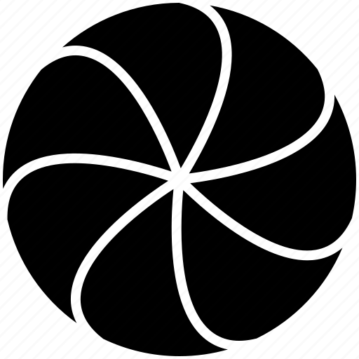 circle, divided, section, splitted, swirl icon