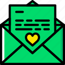 communication, dialogue, discussion, letter, love icon