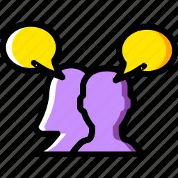 communication, conversation, dialogue, discussion icon