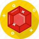 crystal, diamond, jewel, ruby, stone icon