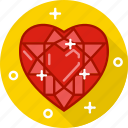 crystal, diamond, heart, heart diamond, jewel, ruby, stone icon
