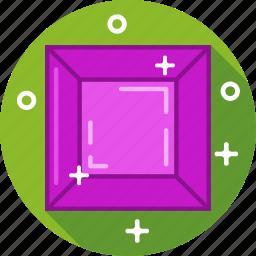 diamond, jewel, ruby, stone icon