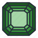asscher, diamond, gem, jewel, jewellery, shape icon