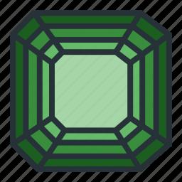 asscher, diamond, gem, jewel, jewellery, shape icon