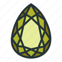 diamond, gem, jewel, jewellery, pear, shape icon