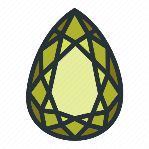 diamond, gem, jewel, jewellery, pear, shape icon