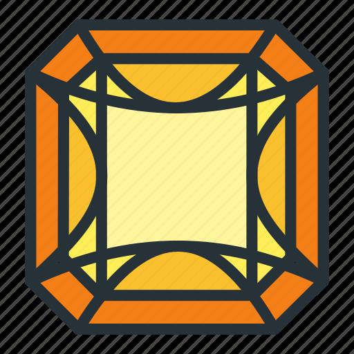 diamond, gem, jewel, jewellery, radiant, shape icon