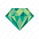 diamond, gem, jewel, jewelry, treasure icon