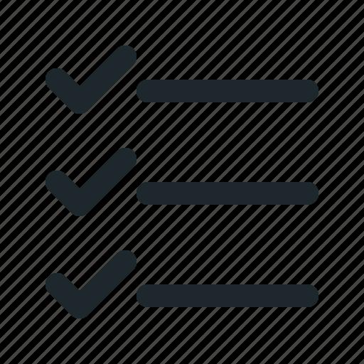 accept, check, checklist, list, mark icon